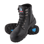 ARGYLE SAFETY BOOT BLACK ZIP/BUMP SIZE 7