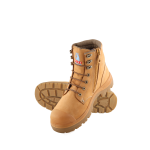ARGYLE SAFETY BOOT WHEAT ZIP/BUMP SIZE 11