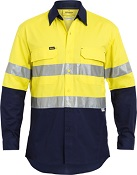 BS6415T 3M TAPED HIVIS X AIRFLOW RIPSTOP SHIRT